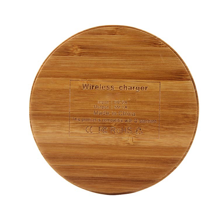 SIYOUNI Custom Qi Wireless Charger Wood Pad for Cell Phones