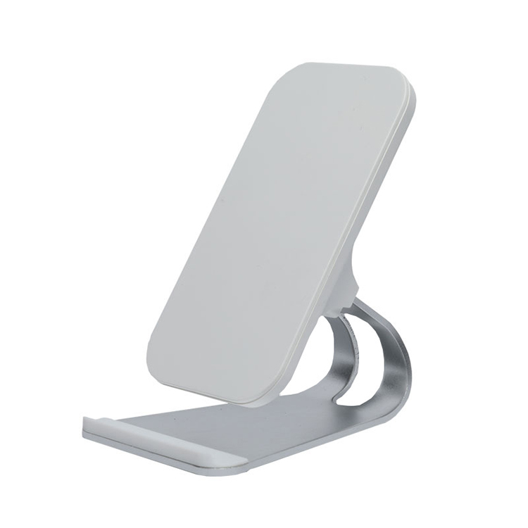 Aluminum 10W Office Desk Wireless Charger Stand with Qi Standard