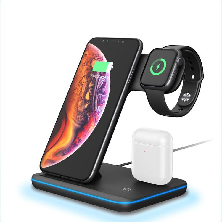 SIYOUNI Latest QI Certified Multi-funciton Wireless Charging Station